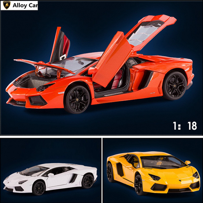 ФОТО Free shipping1:18 alloy car, LP700 high simulation car model, metal diecasts, coasting, the children's toy vehicles