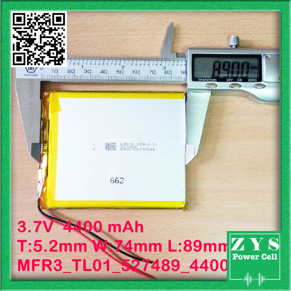 Safety Packing Level 4 3 7V 4400mah Li ion battery for tablet pc 7 inch MP3