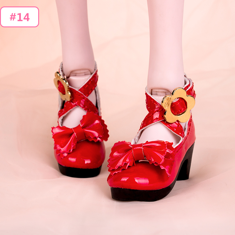 New Sandals High Heels Shoes For 1//3 BJD Doll SD Doll Wine Red Black Shoes
