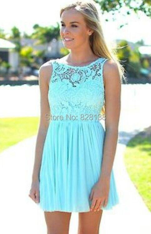 Turquoise Semi Formal Dress
