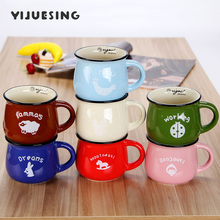 Creative Ceramic Cups and Mugs Coffee Tea Beer Milk Cup 150-350ml BPA-Free for Breakfast