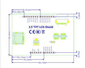 "Image 3 - จัดส่งฟรี! 5 ชิ้น/ล็อตโมดูลLCD 3.5 นิ้วหน้าจอTFT LCD 3.5 ""สำหรับArduino UNO R3 BoardและสนับสนุนMega 2560 r3"