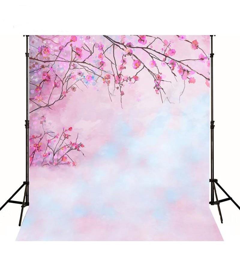где купить Pink Spring Flower Floral  Cherry Tree photo backdrop Vinyl cloth High quality Computer printed wall  Photography Backgrounds по лучшей цене