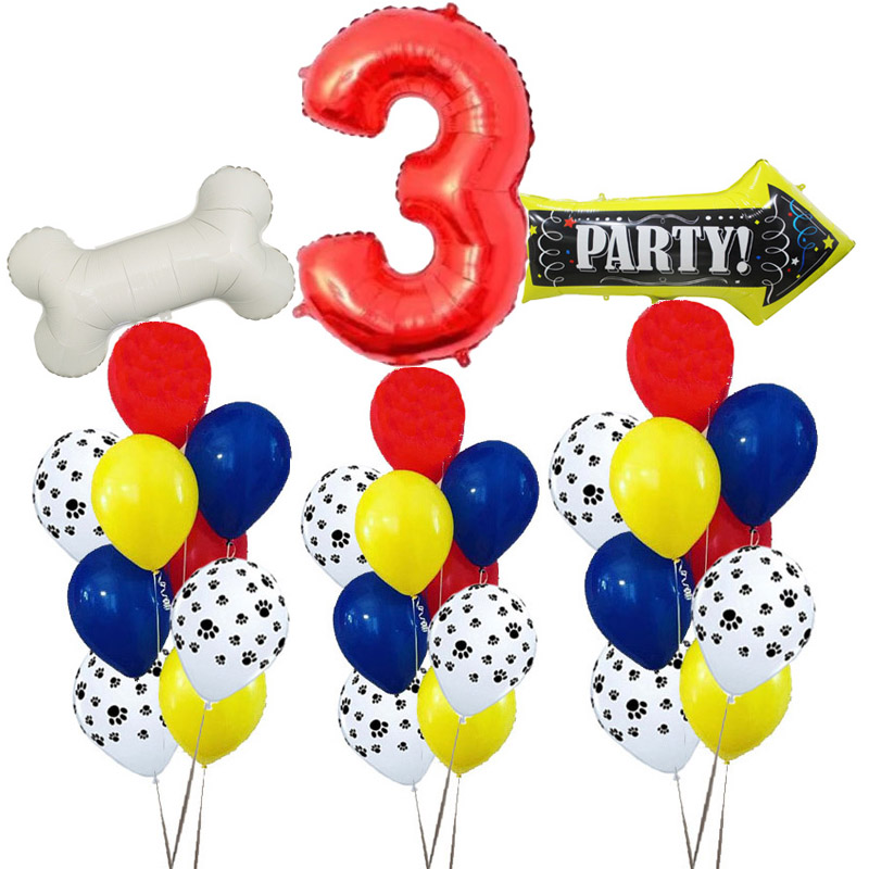 11pcs/lot 12 Inch Paws Dog Party Balloons Latex Balloons Kids Birthday Gift Baby Shower Party Toys Decoration Globos