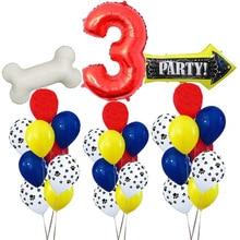 11 шт./лот 12 дюймов собачьи лапы вечерние шары латексные шары детский подарок на день рождения детский душ вечерние игрушки украшения globos
