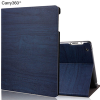 High Quality Wood Grain Fabric PU Leather Case For IPad Air 2 Case Smart Cover For