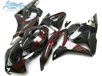 Free 7gifts Injection fairing kit fit for Honda CBR600RR 2009 2010 2011 CBR 600RR 09 10 11 black red flames fairing kits Xl22