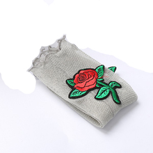 Nice 1Pair Spring Summer Glitter Mesh Pink Flowers Women Shiny Transparent Elastic Manual Hosiery Embroidered Roses Socks