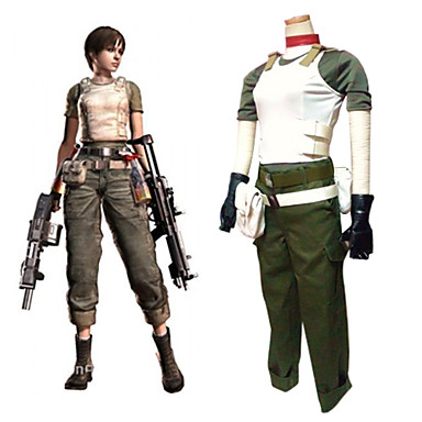 Resident Evil Costumes Rebecca Chambers Cosplay Halloween ladies party uniform Customized game costumes