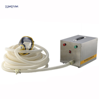 One person Electric Long Tube Constant Flow Airline Supplied Fresh Air Respirator System Full Face Gas Mask Self priming 120W