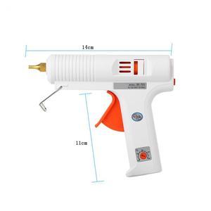 Image 5 - 110 واط صمغ يسيح بالحرارة بندقية 110 240 فولت قابل للتعديل ثابت درجة الحرارة سخان صمغ يسيح بالحرارة بندقية كمامة قطرها 11 مللي متر الحرفية أداة إصلاح