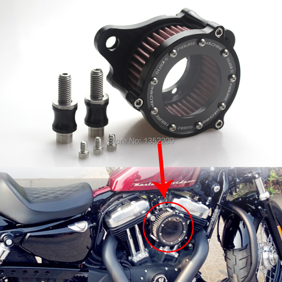 New Clear Air Cleaner Intake Filter Syetem Rough Crafts Fits For Harley Sportster XL883 1200 2004
