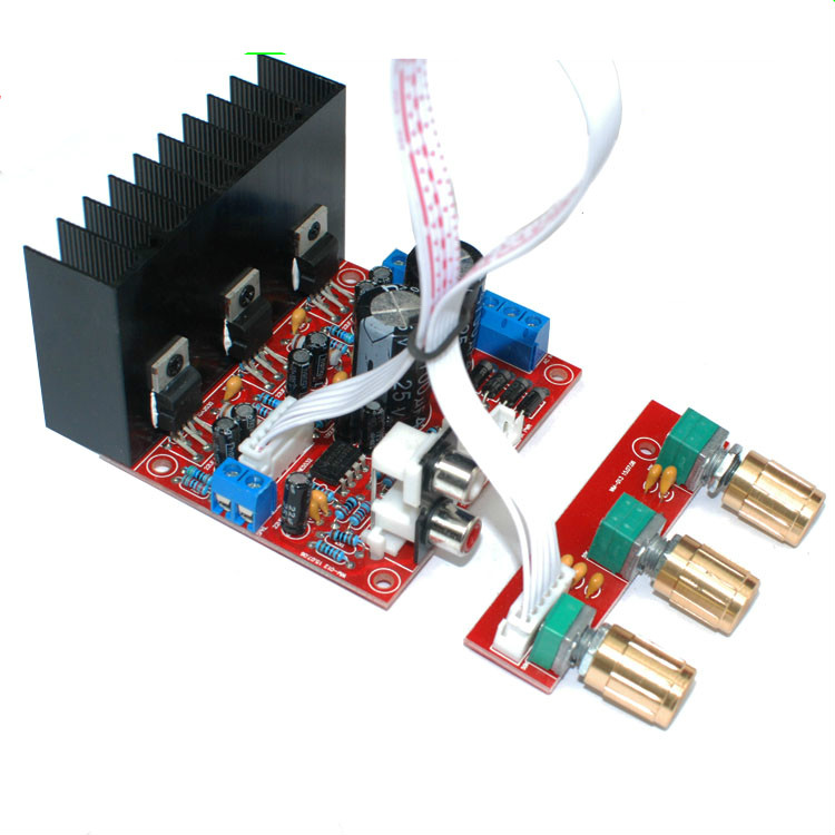 TDA2030A 2.1 Subwoofer Amplifier Board Three-channel Speaker Audio Bass Amp Board ux32a laptop motherboard ux32vd mainboard i3cpu integarted 2gb ram 100% tested free shipping