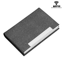 BYCOBECY New Men Card Holder Fashion Women Big Capacity Bank Credit Name Business Card Metal Case Classic Steel Handy Card Box(China)