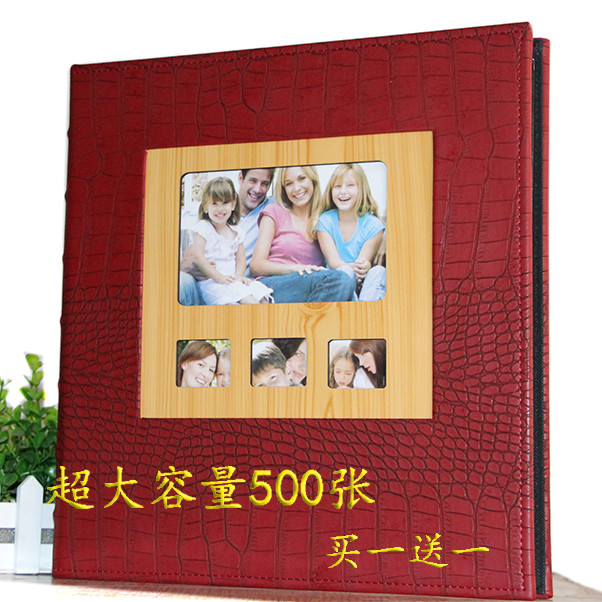 Quality Photo Albums: Quality Window For Crocodile Leather Family Photo Albums