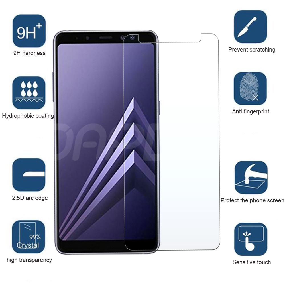 Image 4 - Premium Tempered Glass For Samsung Galaxy A3 A5 A7 2015 2016 2017 A6 A8 Plus A9 2018 Screen Protector HD Protective Film Case-in Phone Screen Protectors from Cellphones & Telecommunications
