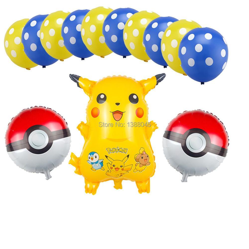Us 429 13 Pzlotto Pokemon Aerostati Della Stagnola Pokechu Lattice Elio Palloncini Giocattoli Gonfiabili Palloncini Buon Compleanno Rifornimenti