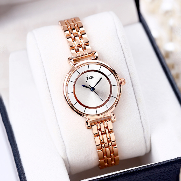 2018 Känd märke JW Armbandsur klocka Kvinnor Luxury Gold Rostfritt stål Casual Analog Armbandsur Ladies Dress Quartz Watch