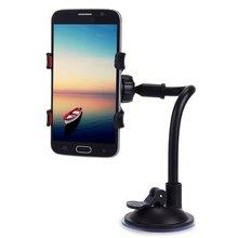 Лобового вращения длинная смартфон кронштейн рука стекла градусов автомобильный мобильный стенд