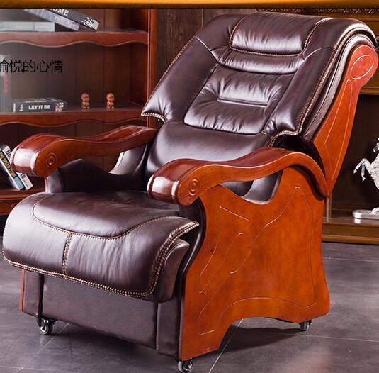 Boss chair. Real leather can lie in big chair. Office chair..013 the silver chair
