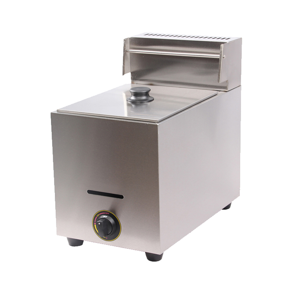 Gas Fryer With Griddle Gas ~ L single tank commercial gas deep fryer lpg