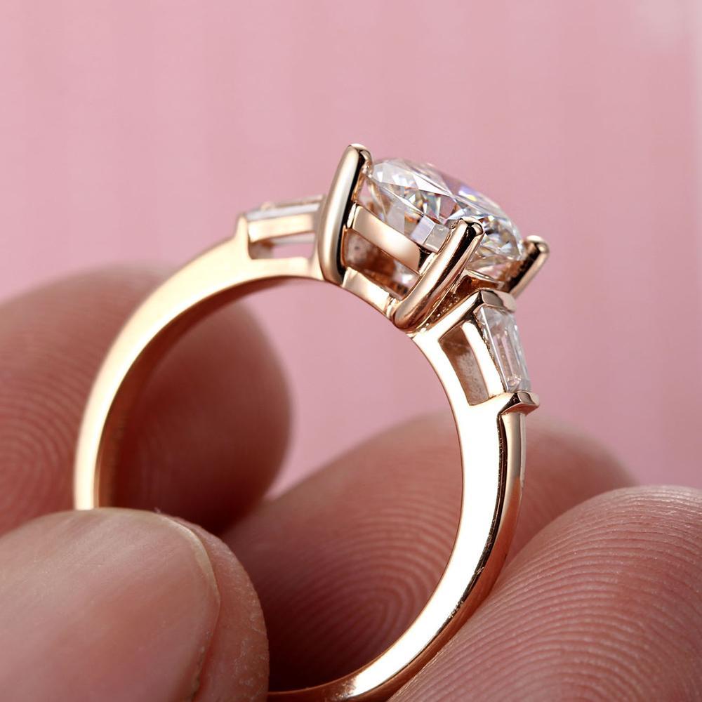 14k white gold 1.5ct Moissanites For Women Lab Grown Diamond Ring ...