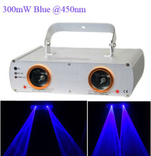 AOBO Lighting 300mW Double head single blue disco laser light laser beam light for DJ Disco