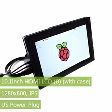 10.1inch HDMI LCD (B) (with case)Capacitive IPS Touch Screen1280*800 Support all RPIs,Windows 10/8.1/8/7,Banana Pi/ Pro,BB Black