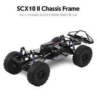 RCtown 313mm 12.3 inch wheelbase assembled frame chassis for 1/10 RC tracked vehicles SCX10 SCX10 II 90046 90047 RC Car