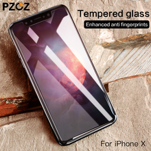 PZOZ For iphone x 10 glass screen protector 8 h Mobile phone ten Hardness Anti Scratches protective film Tempered cover 9H glass