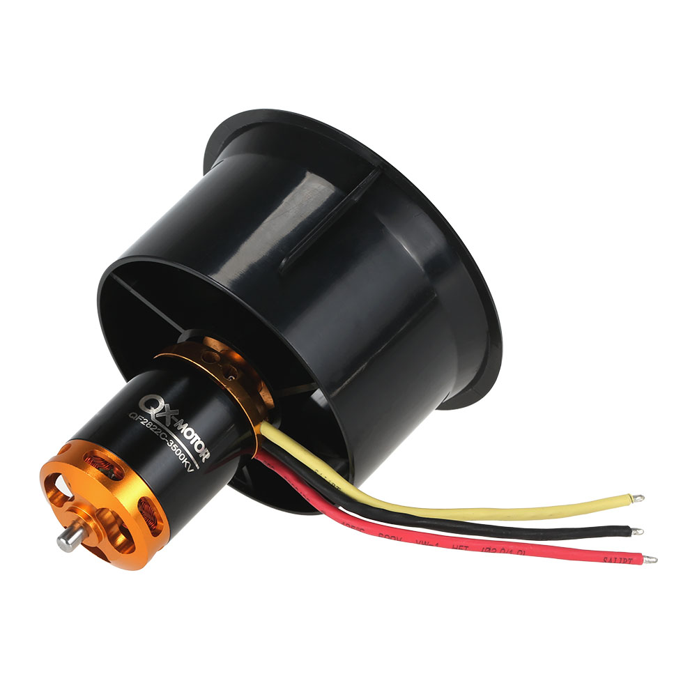 64mm EDF Set 2822 3500KV Motor with 12 Blades Ducted Fan for RC Airplane