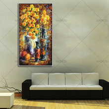best Handpainted Colorful flower Knife Modern Oil Paintings On Canvas home Decor Wall Art Pictures For office Home