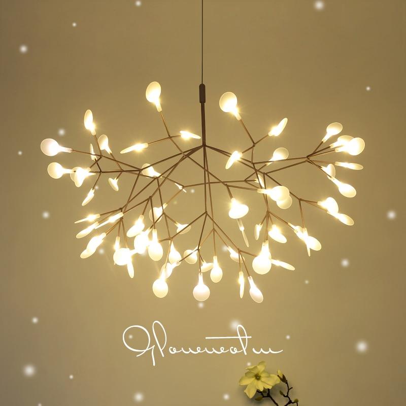 Modern LED chandelier nordic lighting fixtures living room suspended lamps restaurant deco illumination bedroom hanging lights