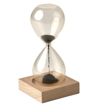 1Pcs Hourglass Hand-blown Timer Clock Magnet Magnetic Ampulheta Crafts Sand Gift Home Decor New