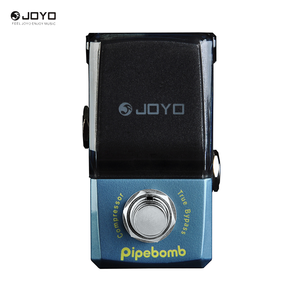 JOYO Ironman Series Pipebomb Compressor Electric Guitar Effect Pedal True Bypass JF-312 joyo ironman orange juice amp simulator electric guitar effect pedal true bypass jf 310 with free 3m cable