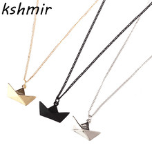 Ms accessories men wish wish lucky boat necklace 40 cm black necklace girl gifts 88PP цена