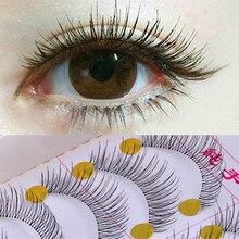 10คู่ขนตาปลอมธรรมชาติReusable Sparse Crossขนตายาวประดิษฐ์Fake Eye Lashesแต่งหน้าFake Eye Lashesส่วนขยาย