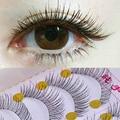 10 pares de pestañas falsas racimos reutilizable Natural y Regular pestañas artificiales ojo falso pestañas maquillaje pestañas Wimpers