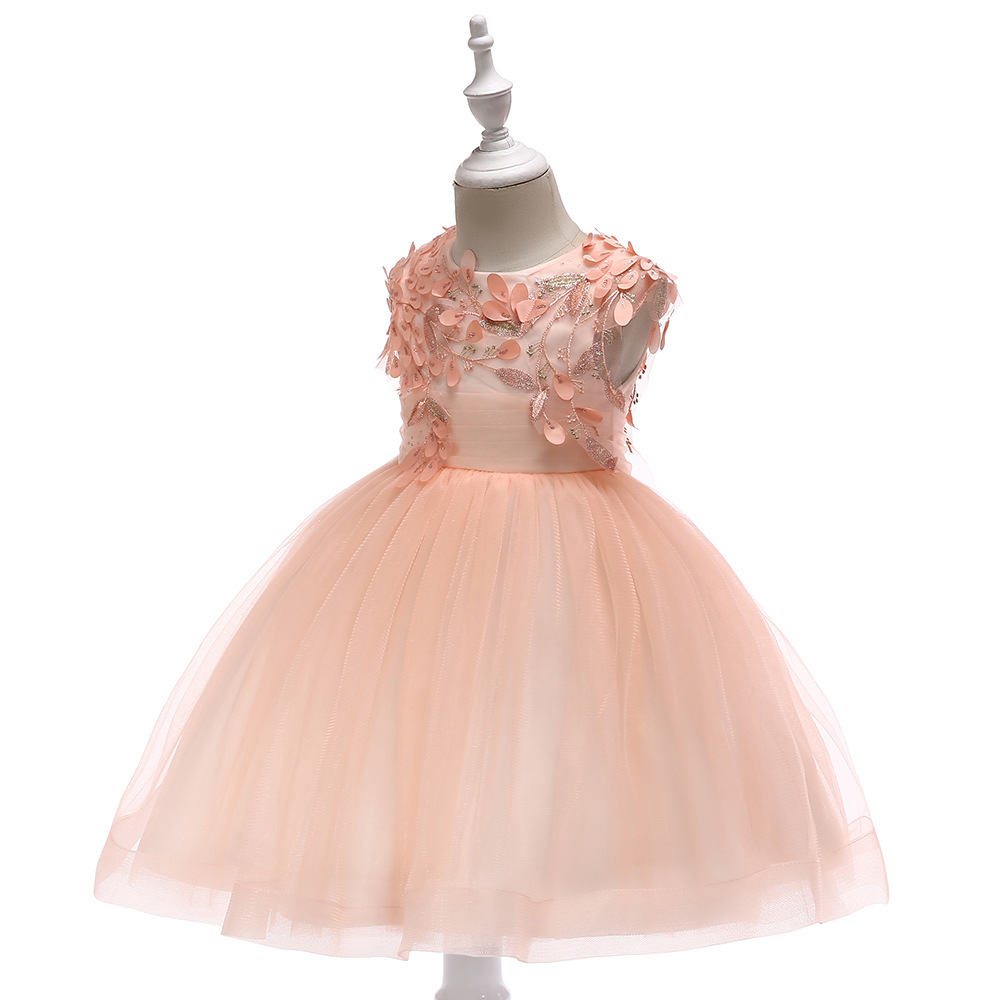 Hot Sale Short Sleeves flower girl dresses for weddings Satin Lace appliques first communion dresses girls dresses for party