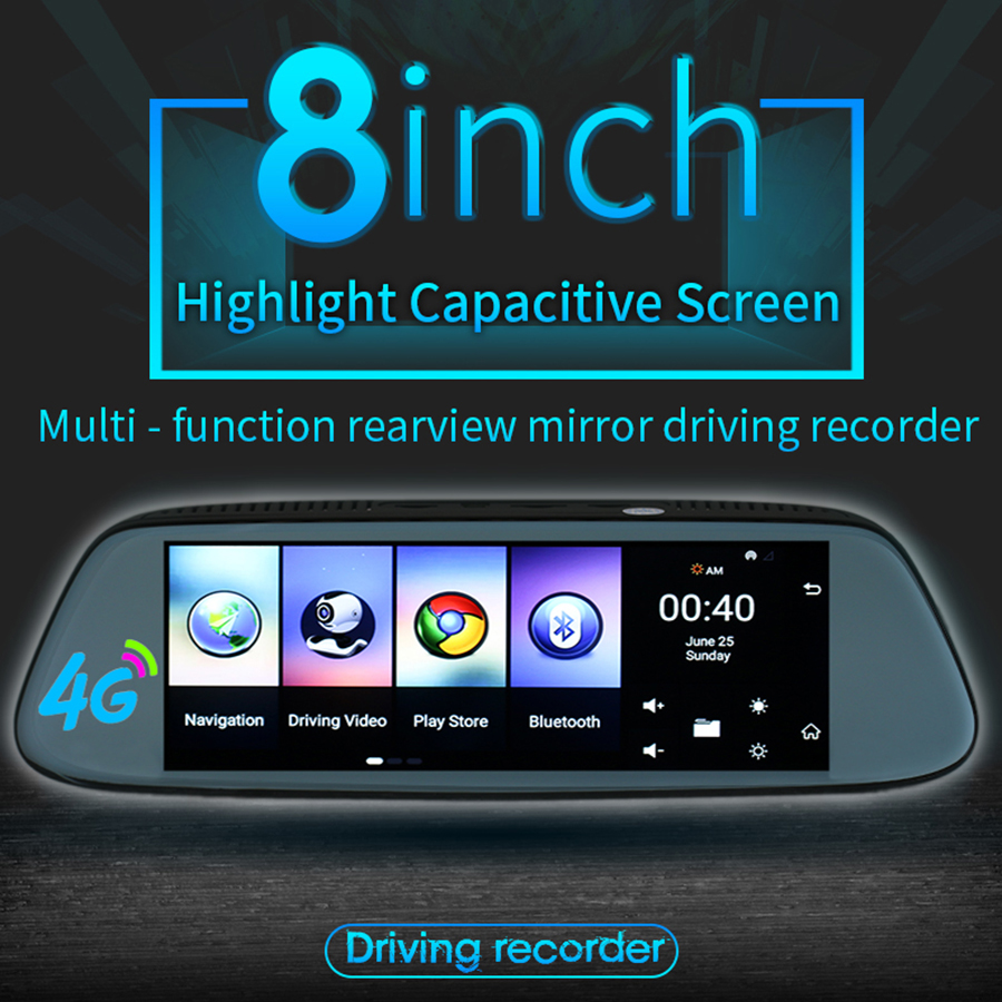 Otstrive 7 inch Dash Cam GPS Navigation Android Dashboard Sun Shade GPS DVR  FHD 1080P Dual Lens Rear View Camera 1G RAM WiFi DVR-in Vehicle GPS from ... c95d629e869