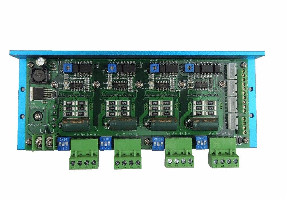 Assurance qualité CNC TB6600 4 axes 4.5A moteur pas à pas carte pilote pour Machine de gravure # RYC TB6600-T4