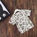 2017 cabritos del verano de manga corta de algodón de dibujos animados camisetas bebé boy ropa de bebé ropa de la muchacha camisetas de los niños del verano vetement kikikids