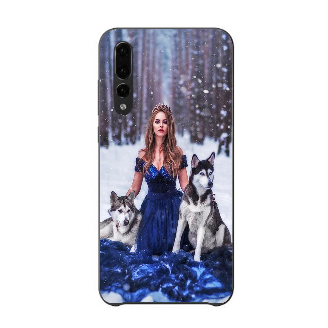 DK Customized DIY Printed Photo new Phone Black Sotf TPU Cover Case for Huawei p20 p10 p8 p9 lite series DIY painting PC cases in Half wrapped Cases from Cellphones Telecommunications