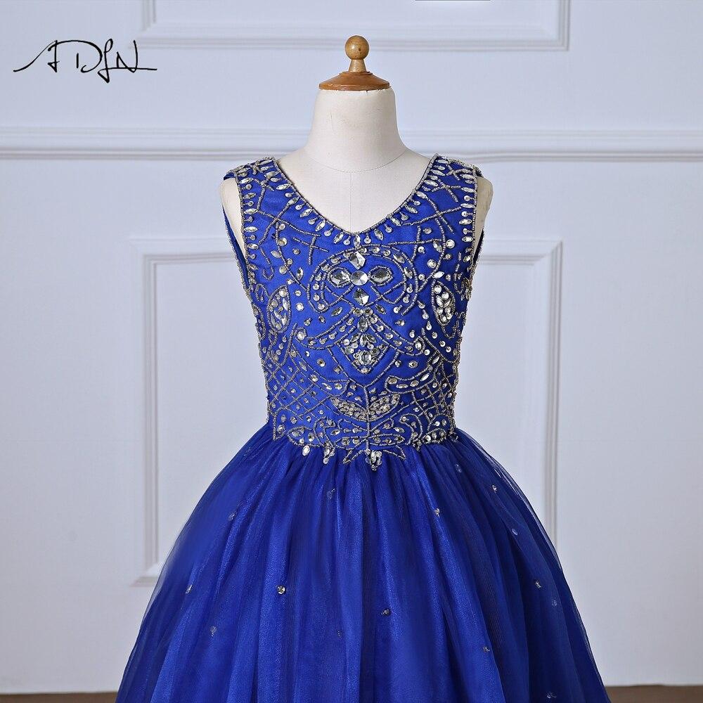 девушка платье; королевский синий платье для детей; девушки цветка ;