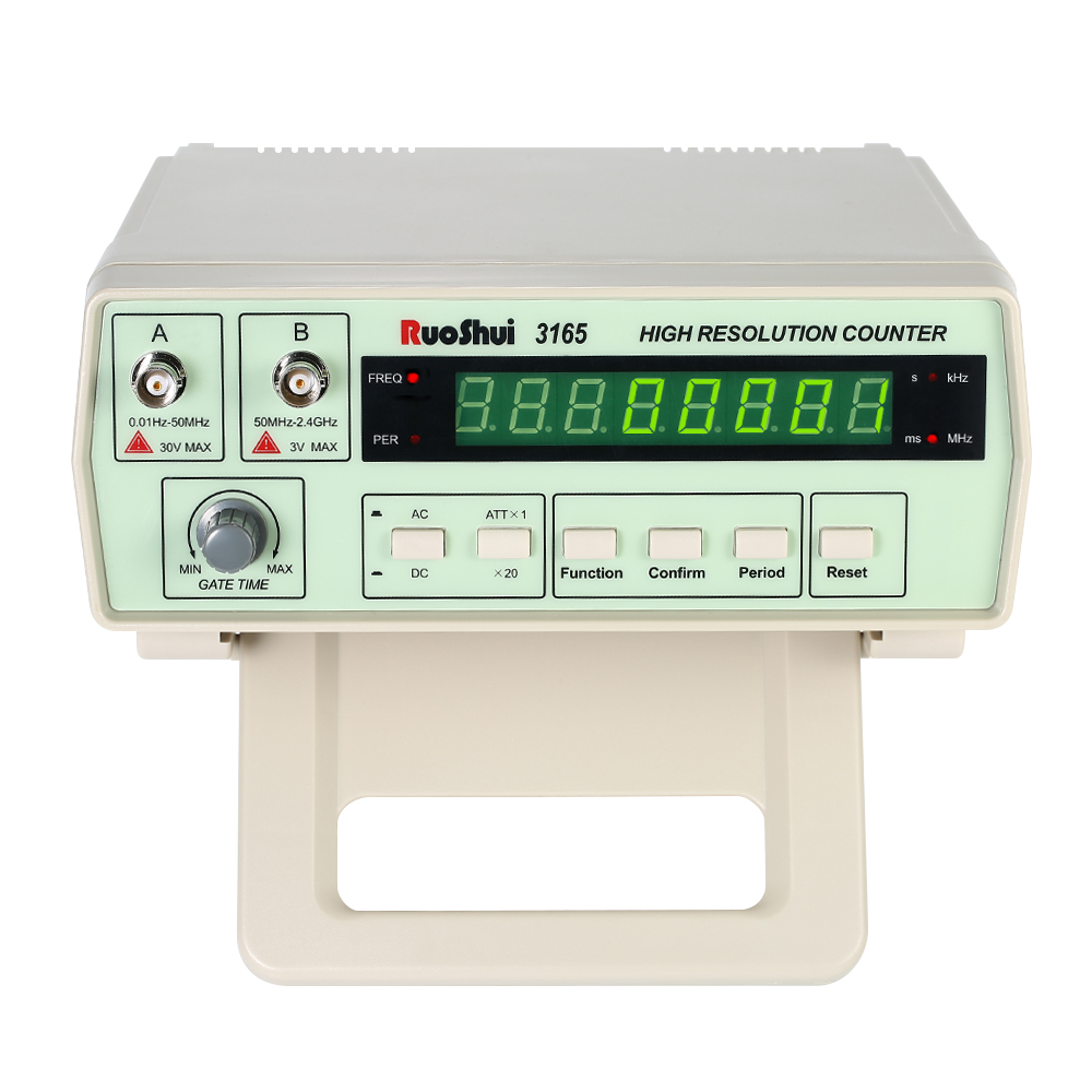 Professional Digital Frequency Counter Meter 0.01Hz - 2.4GHz Frequency Counter Hz Tester Continuously Adjustable Gate Time