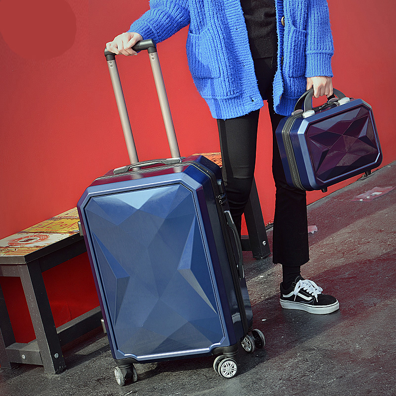 New Fashion 20/24/26 Inches Trolley Boarding Case ABS+PC Colorful Travel Waterproof Luggage Set Rolling Suitcase Spinner Box