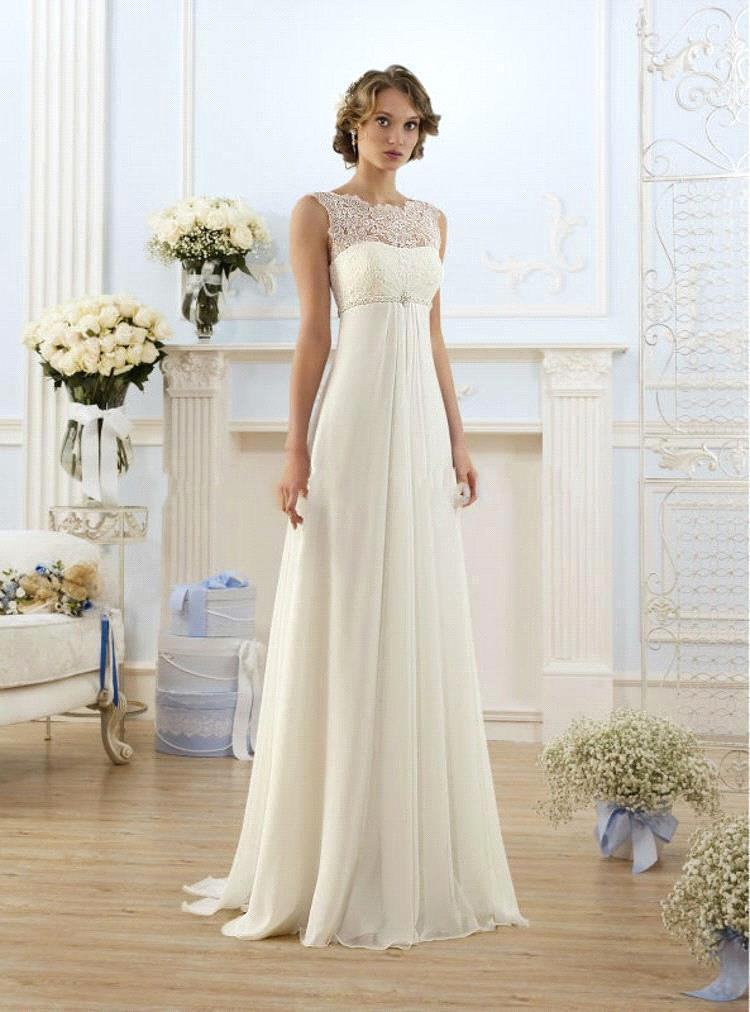 Aliexpress.com : Buy Romantic High Neckline A Line Wedding Dresses ...