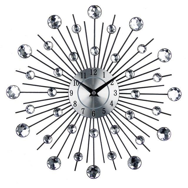 Винтаж металла Книги по искусству настенные часы роскоши алмаз большой настенные часы orologio да parete часы Морден Дизайн Домашний Декор wandklok