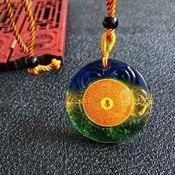 Greco-Budista bolso viagem eficaz Auspicioso Exorcizar Os Maus espíritos Shurangama Mantra Budista Amuleto Pingente de Cristal