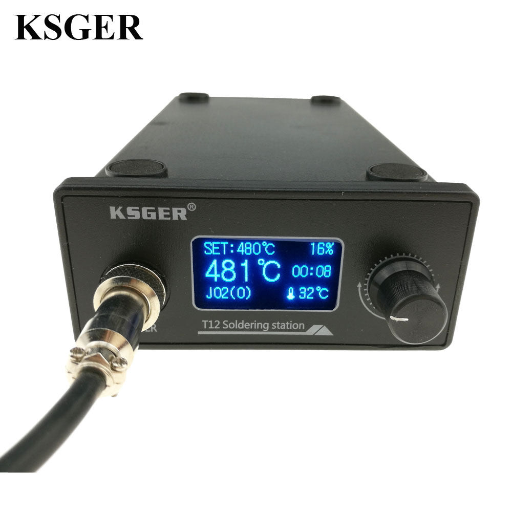 KSGER T12 Soldering Iron Station STM32 OLED DIY Kits Solder Electric Tools Welding Iron Tips Temperature Controller Handle Case(China)